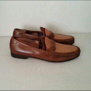 Johnston & Murphy leather brown/camel shoes.